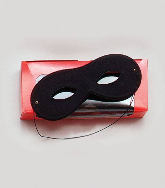 Black Rayon Eyemask Small Masquerade Ball Eye-Mask Eye Mask Fancy Dress